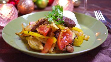 牛肉とフライドポテト⁉ペルーの「ロモサルタード」#世界の料理