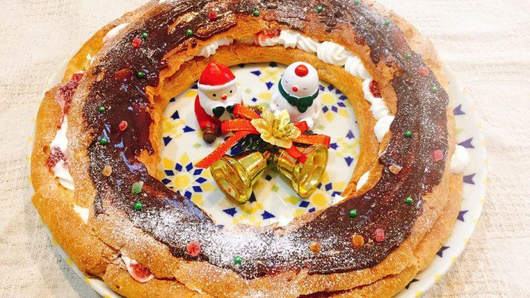 豪華に見えるクリスマスケーキ、パリブレストのレシピ