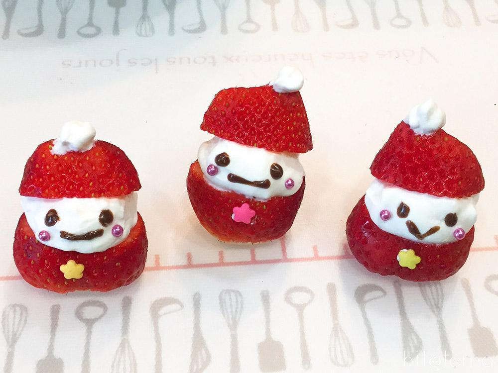 サンタさんのカップケーキの仕上げ2
