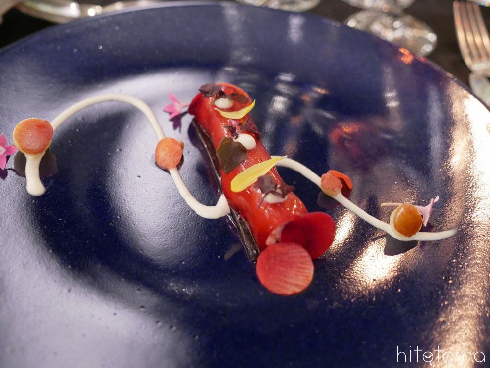 [グラッツィオーソ~優美に~]ズワイ蟹と赤紫蘇のインボルティーニ