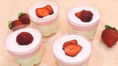 ひな祭りにいかがですか?三色ヨーグルトムースのレシピ #子どもと作るお菓子