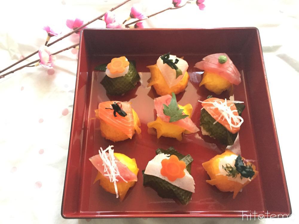 甘酒のすし酢と野菜シート使いがポイント!刺身盛合わせで作るてまり寿司