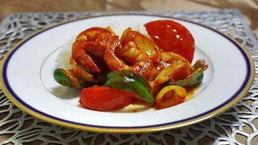 辛味とうま味の競演!スリランカ風「エビの辛味炒め」#世界の料理