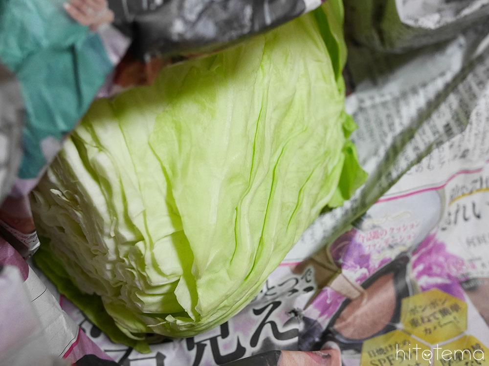 大きな野菜はそのまま収納