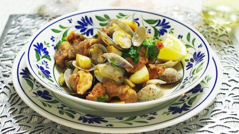 山の幸と海の幸が出会った!ポルトガル「豚肉とアサリの蒸し煮」 #世界の料理