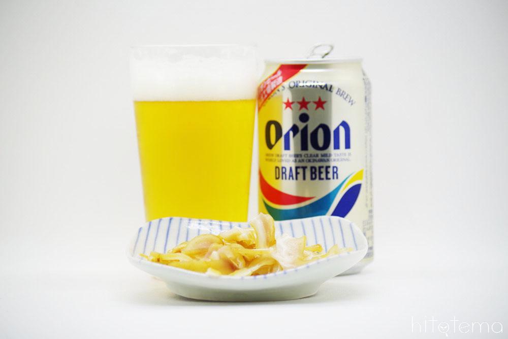 オリオンビールとミミガー