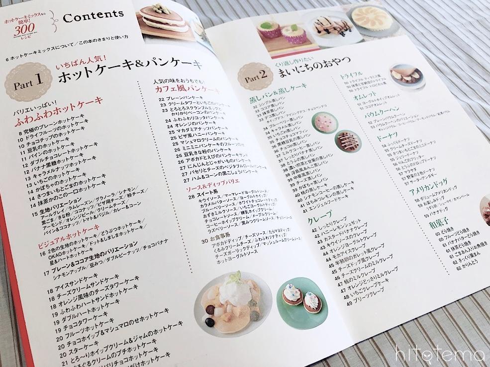 ホットケーキミックスなら簡単!300レシピ目次1