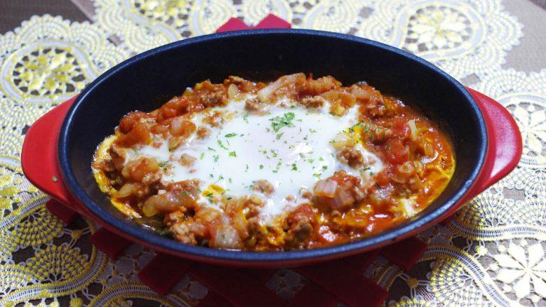 ひき肉入りのエジプト風!シュクシャカのレシピ #世界の料理