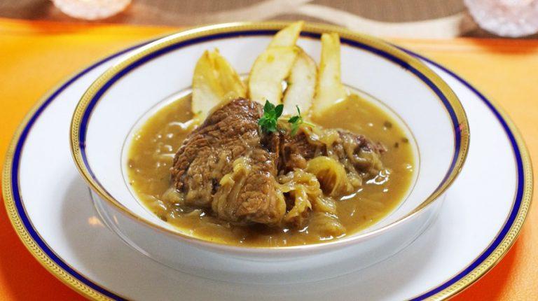 フランダース風!ベルギー「カルボナードフラマンド」のレシピ #世界の料理
