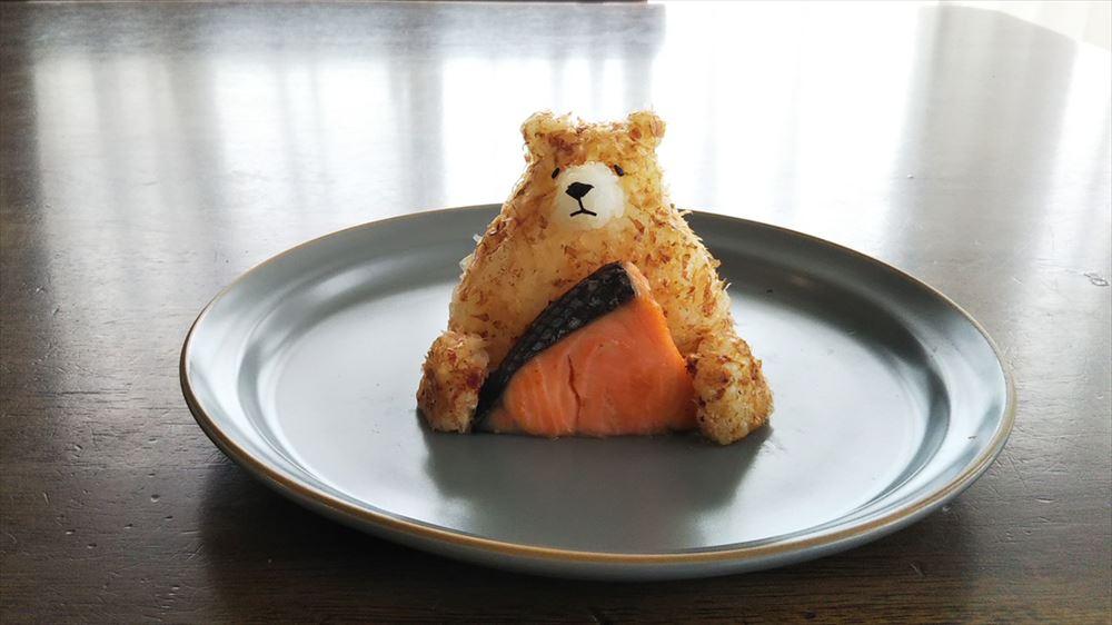 「熊と焼き鮭」