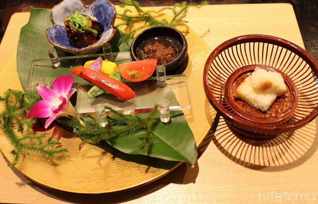 【米菜】葉月の前菜とお米のコースを京野菜に添えて~銀シャリパンとともに~