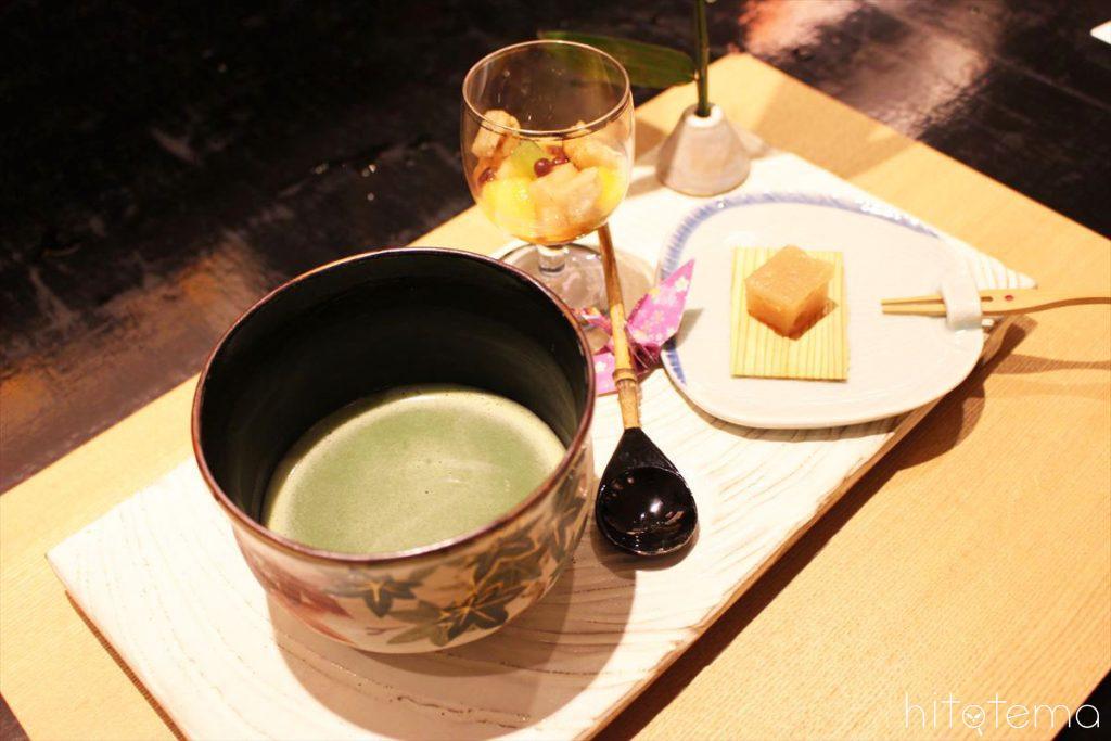 【甘み米】葉月の米甘味二種とお抹茶