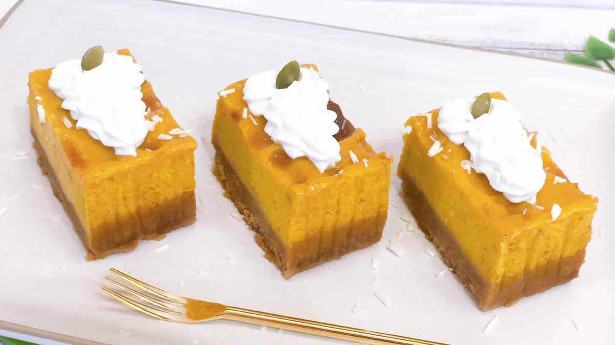 ハロウィンに!ディズニー公式レシピ「パンプキンバー」(Pumpkin Bars)