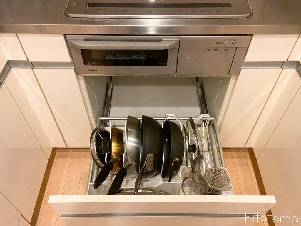 出し入れ簡単な収納にして料理の時短をめざそう