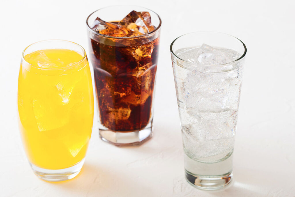 コーラなどの飲料水と比べるとどうか