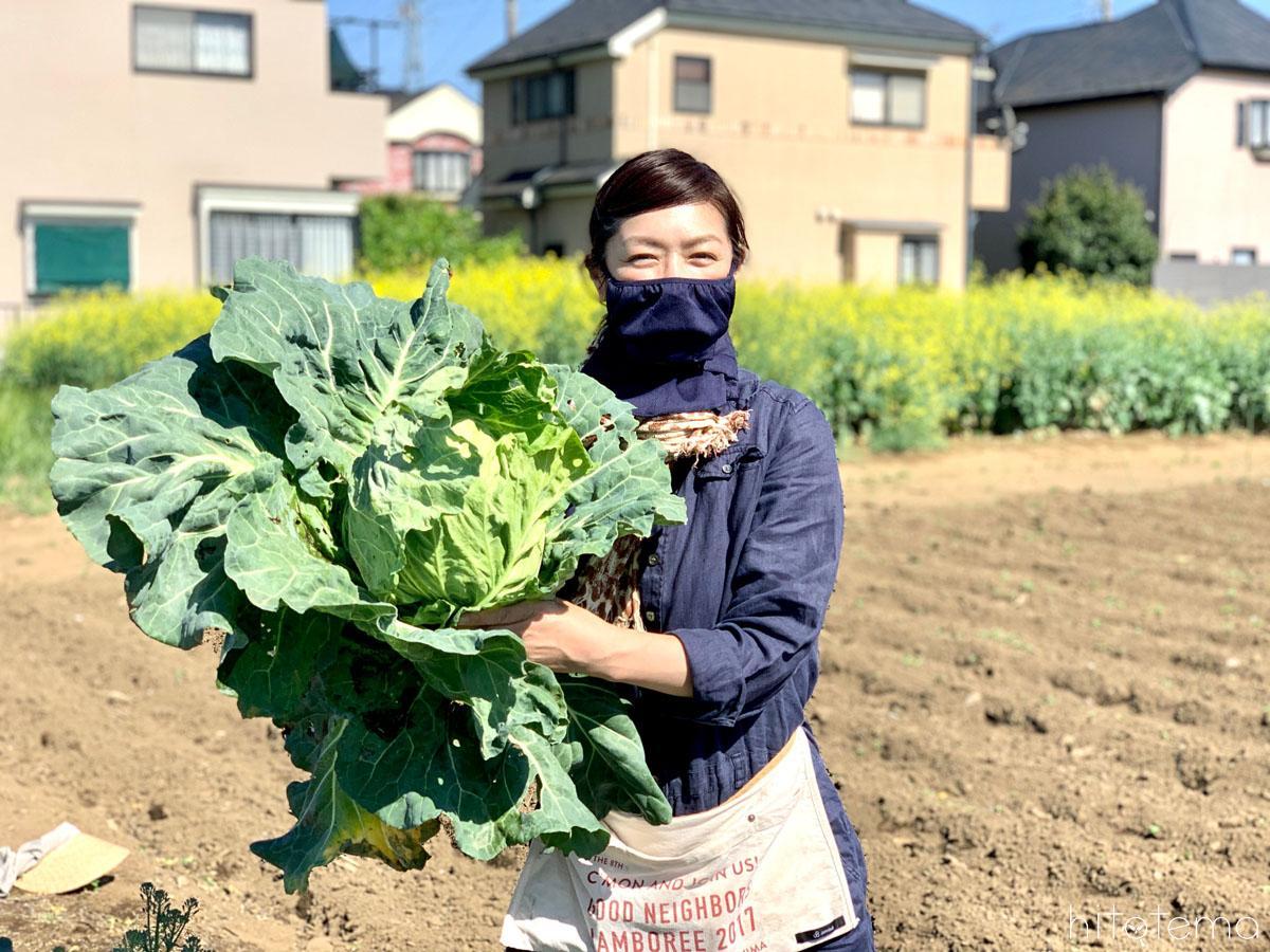 加藤紀子さんと畑