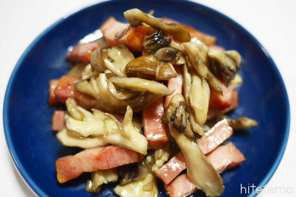 ベーコンと舞茸のソテー