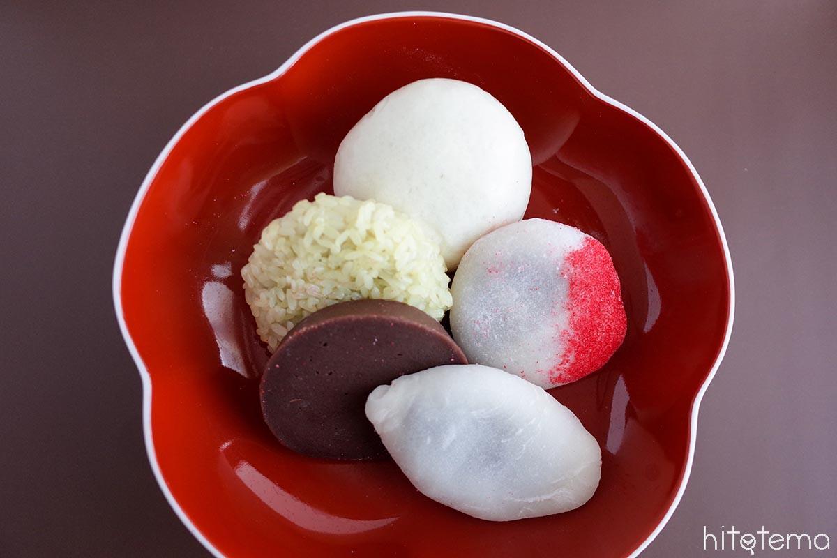 金沢に江戸時代から伝わる婚礼の縁起菓子。美福の「五色生菓子」
