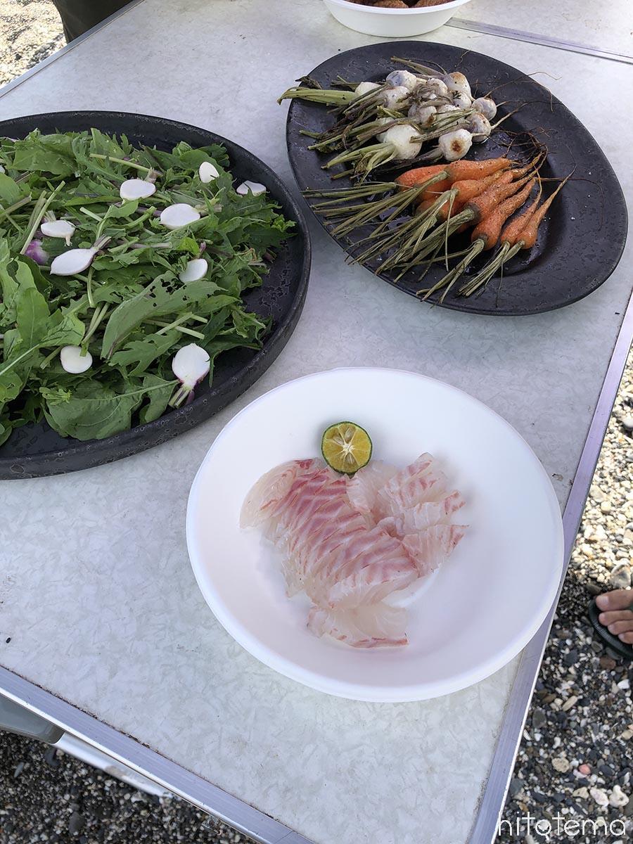 お野菜と石鯛