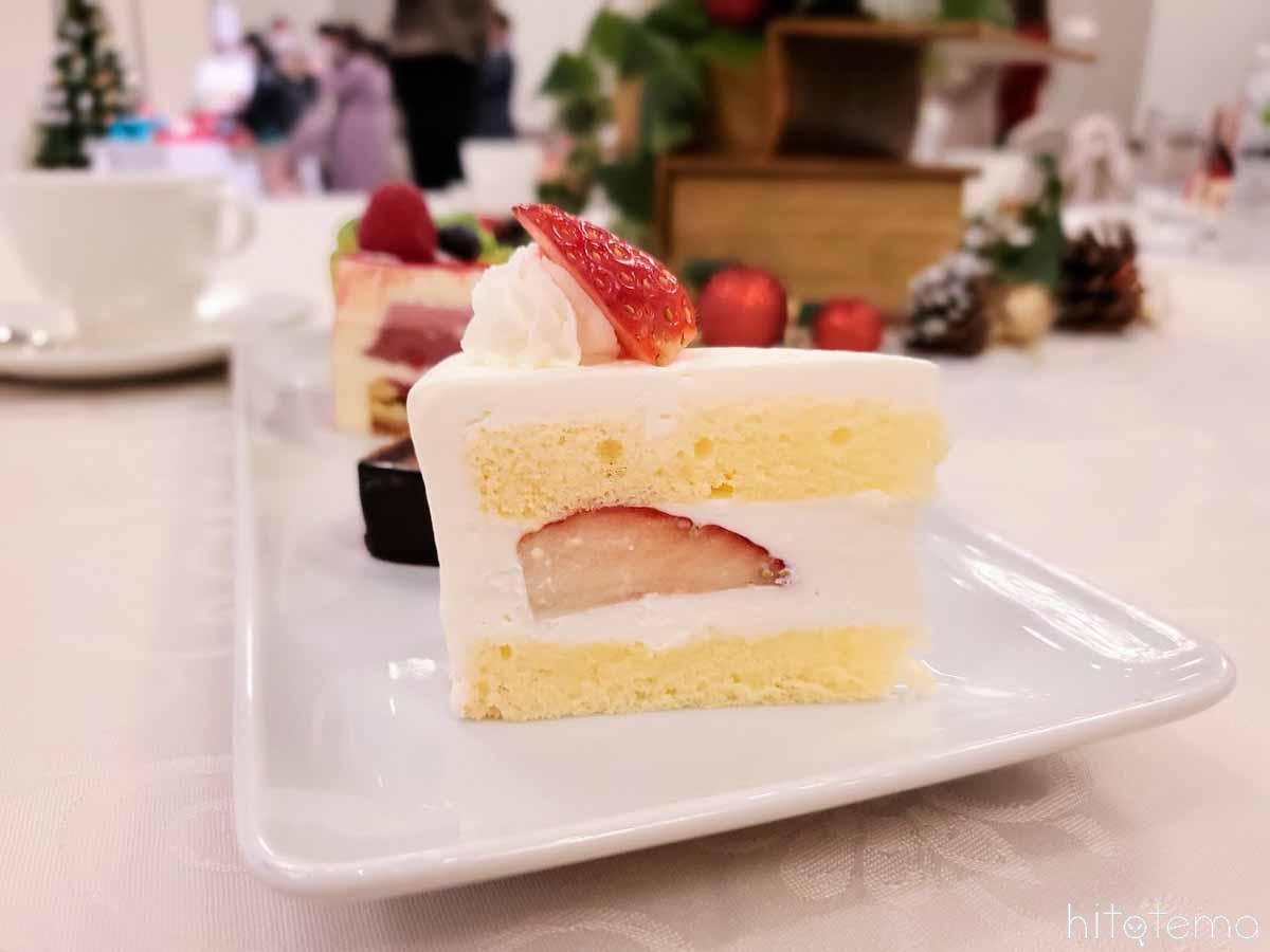 クリスマスショートケーキ断面