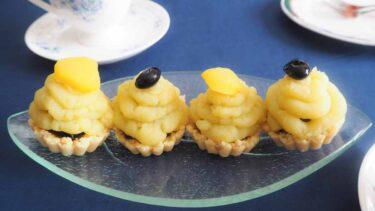 おせちの簡単リメイク!栗きんとん&黒豆煮で作るプチモンブランのレシピ