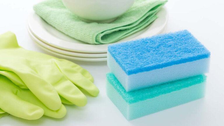 キッチンスポンジやふきんを清潔に保つ方法は?スポンジはどれくらいで交換すべき?