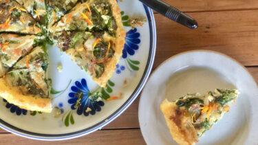パイ生地も生クリームも使わない!ハーブと野菜のヘルシーライスキッシュ #ハーブとスパイスの教科書