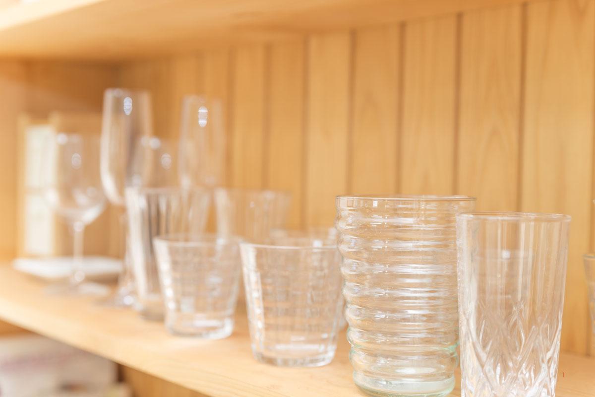 グラスを収納するときの注意点