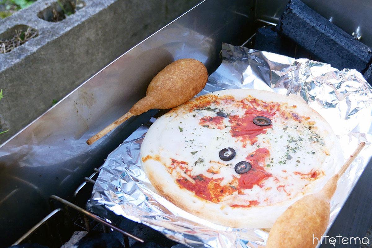 ピザと雨リンドック