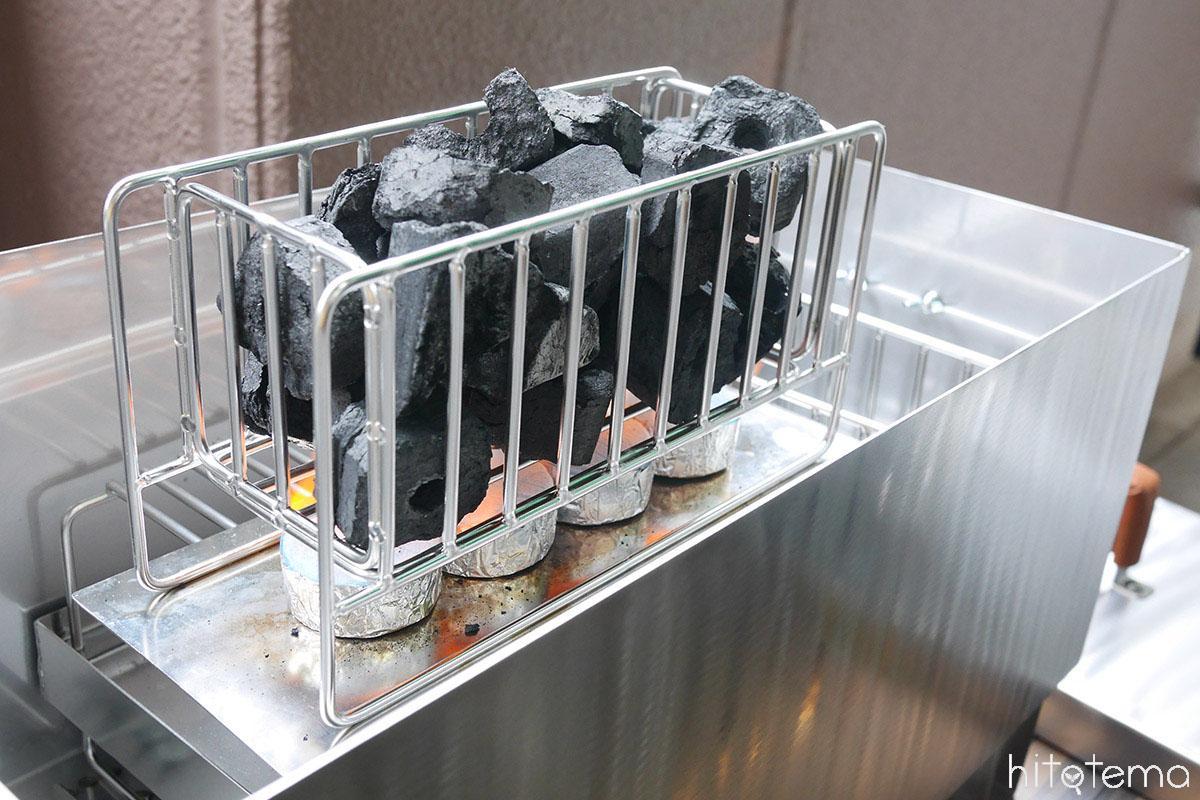 着火剤+オガ炭