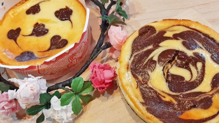 好きな模様でオシャレに!マーブルチーズケーキのレシピ