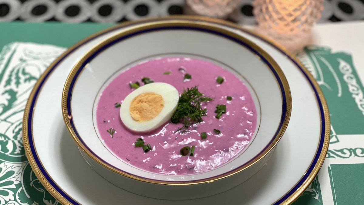 冷たいボルシチ?リトアニア「シャルティバルシチェイ」のレシピ #世界の料理