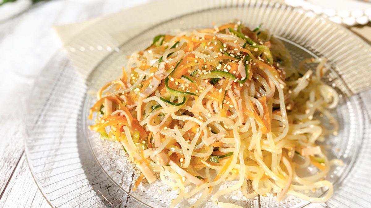 中華風春雨サラダのレシピ。隠し調味料で味を引き締めるのがコツ! #昭和ごはん