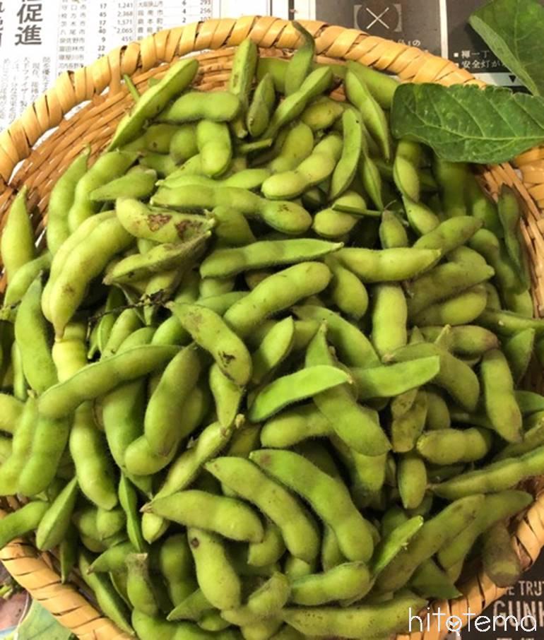 山盛り枝豆