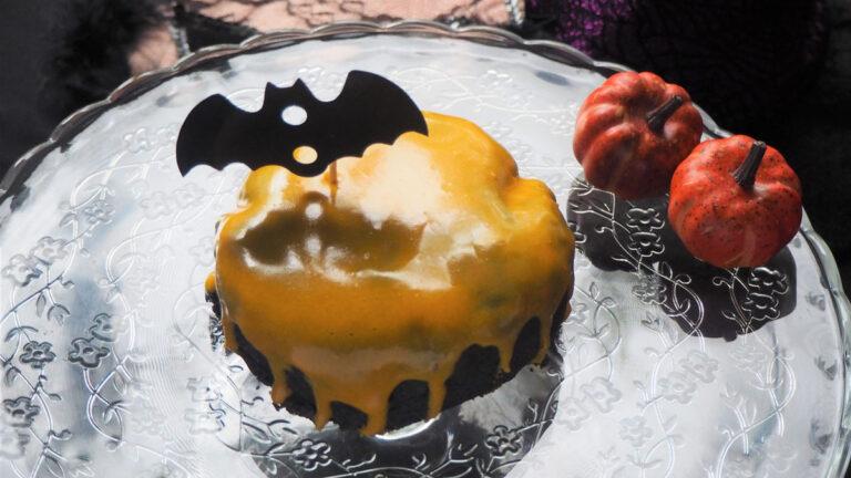 米粉のブラックパンプキンケーキでおうちハロウィン!#アレルギーフリー生活
