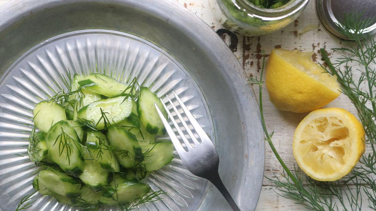 キュウリとディルのシンプルサラダ #ホマレ姉さんのレシピ